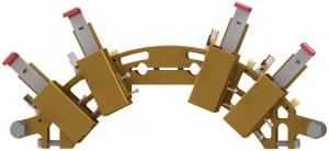wind turbine brush holder and electric motor brush holders