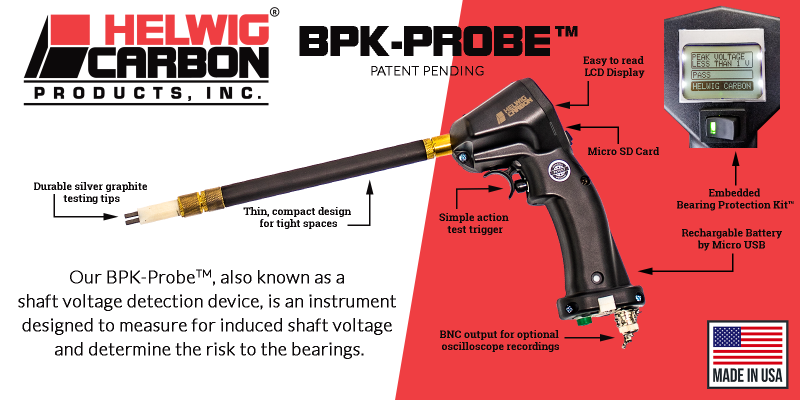 details on the BPK-Probe, used in blog post on Achieving an ROI with the BPK-Probe™ | Damage to Motor Bearings