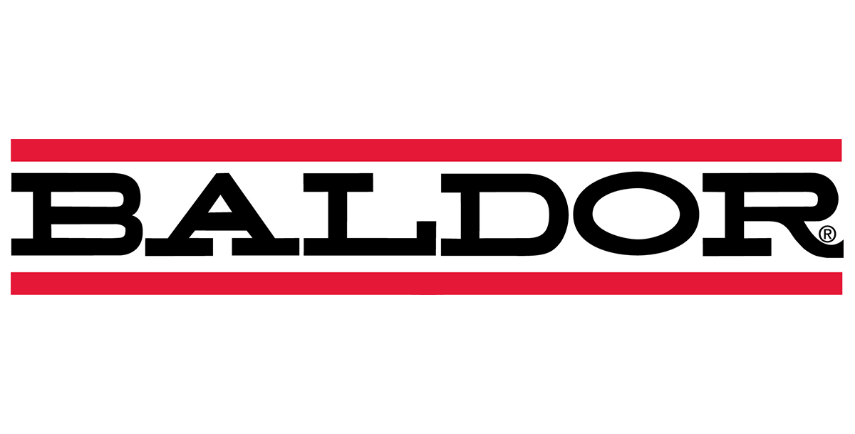 baldor logo, oem for motor shaft grounding solution from Helwig Carbon