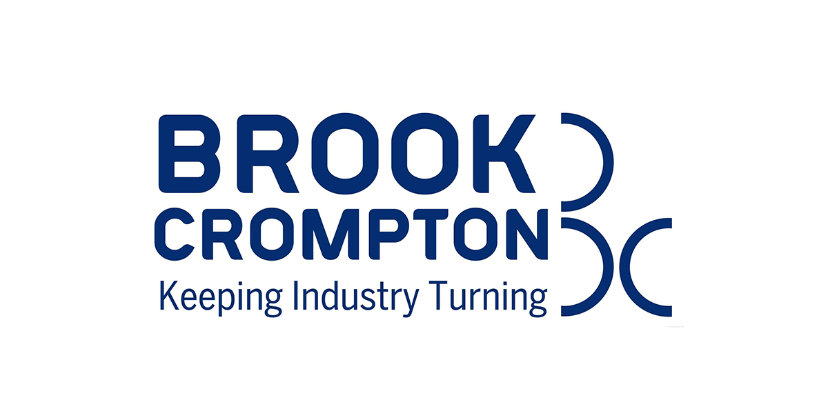 brook crompton logo, oem for motor shaft grounding solution from Helwig Carbon