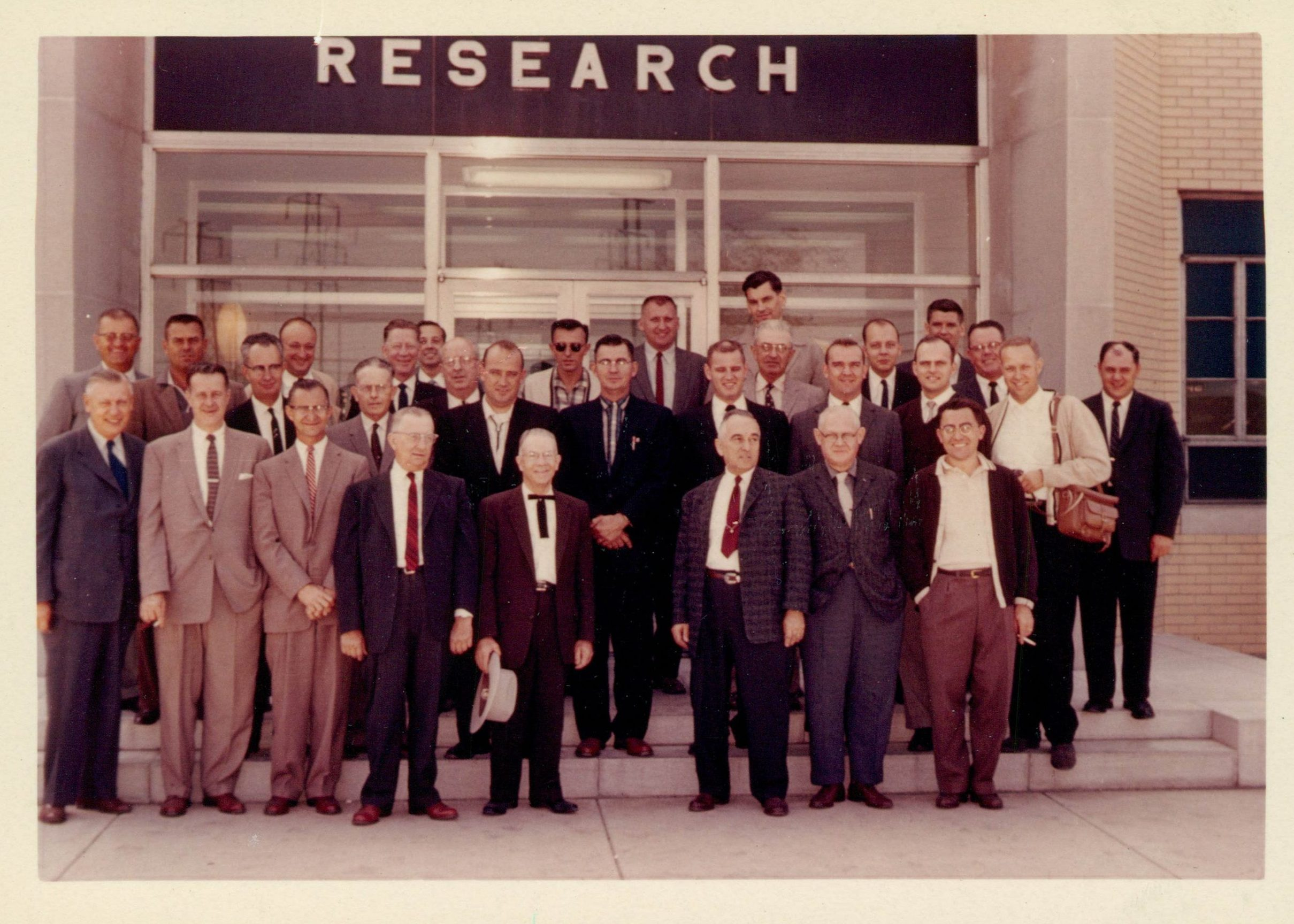 image of Helwig Carbon Sales Reps and Engineers from the late 1960s, used in 50 Years of Brush Holder Innovations Helwig Blog