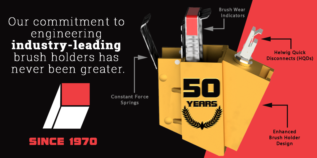 Celebrate With Us | 50 Years of Brush Holder Innovations | Helwig Blog featured image