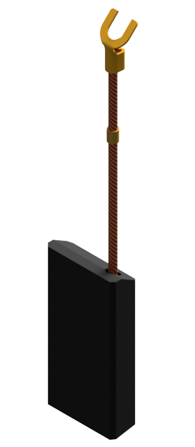 tamped single wire carbon brush