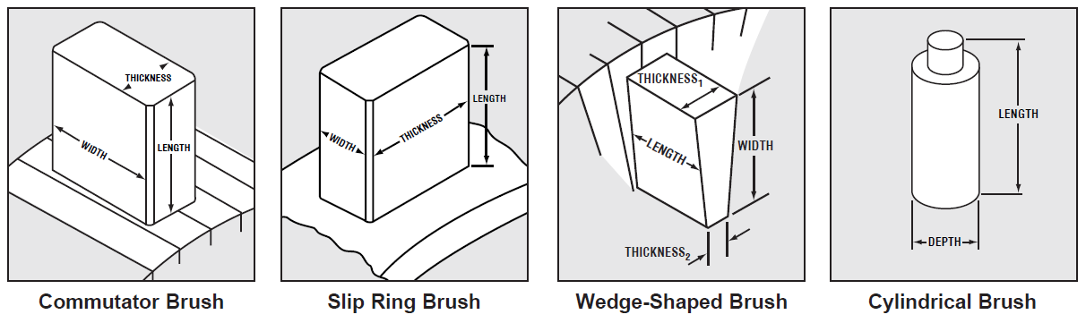 examples of carbon brushes for brush dimensions