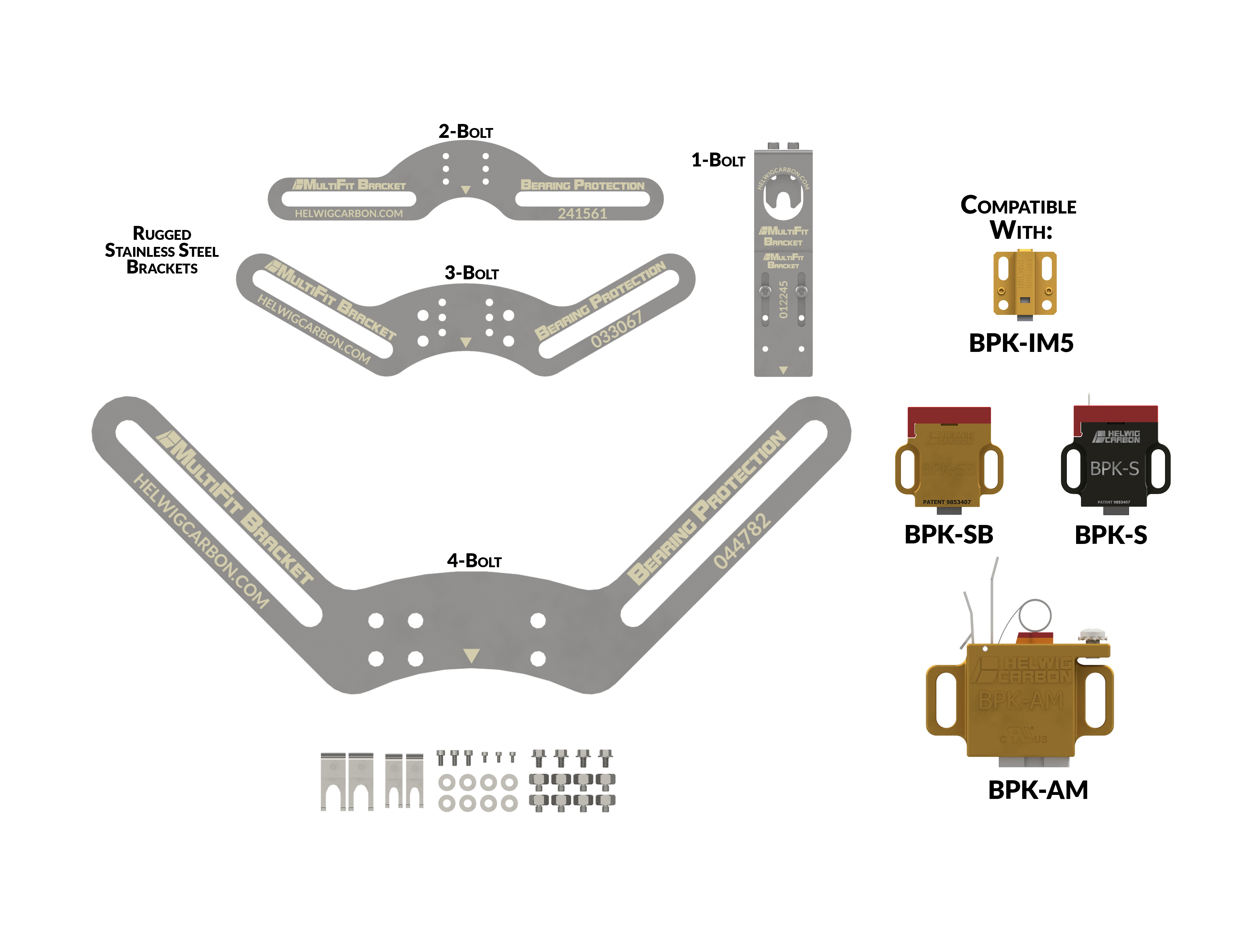 graphic of MultiFit Brackets paired with BPKs - step 1